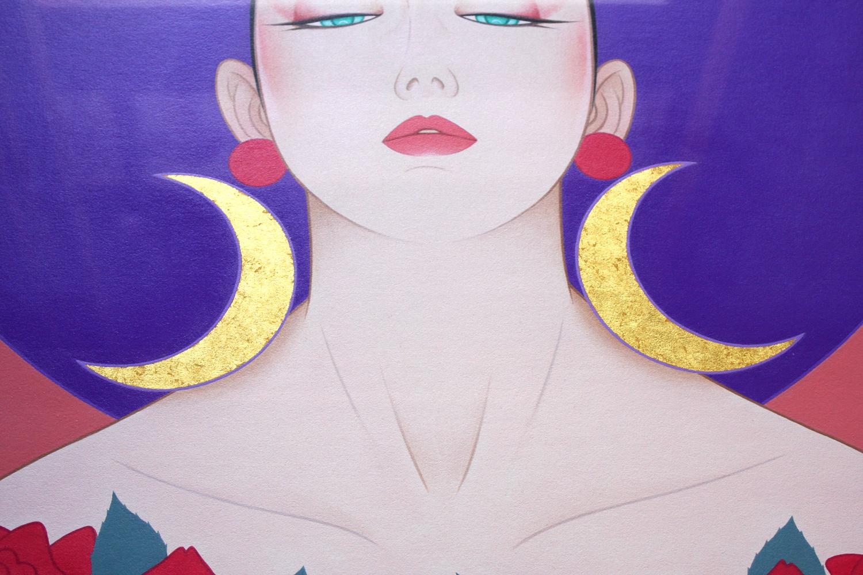 鶴田一郎・薔薇と月のアニヴァーサリー拡大写真